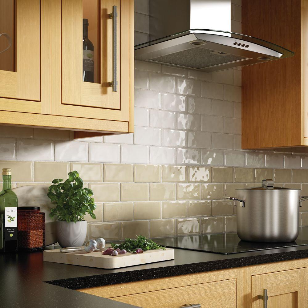 Installed bronze like tile on the weeping wall it looks old school - Artigiano Italian Alps Kitchen Tile Kitchen Backsplash Home Inspiration Kitchen Inspiration