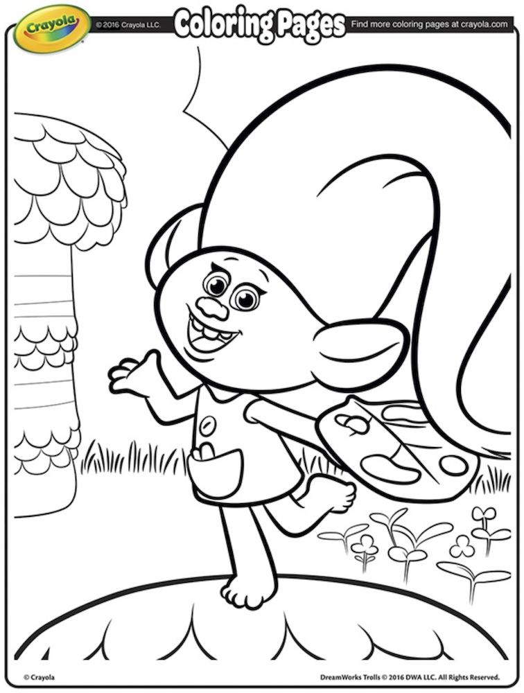Trolls Party Cartoon Coloring Pages Free Kids Coloring Pages Coloring Pages