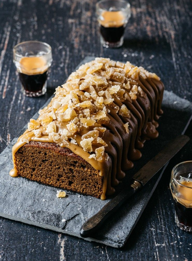 Sticky Ginger Loaf with Salted Caramel Icing Caramel