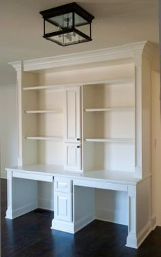 Image result for 12 foot wall with desk and bookshelves