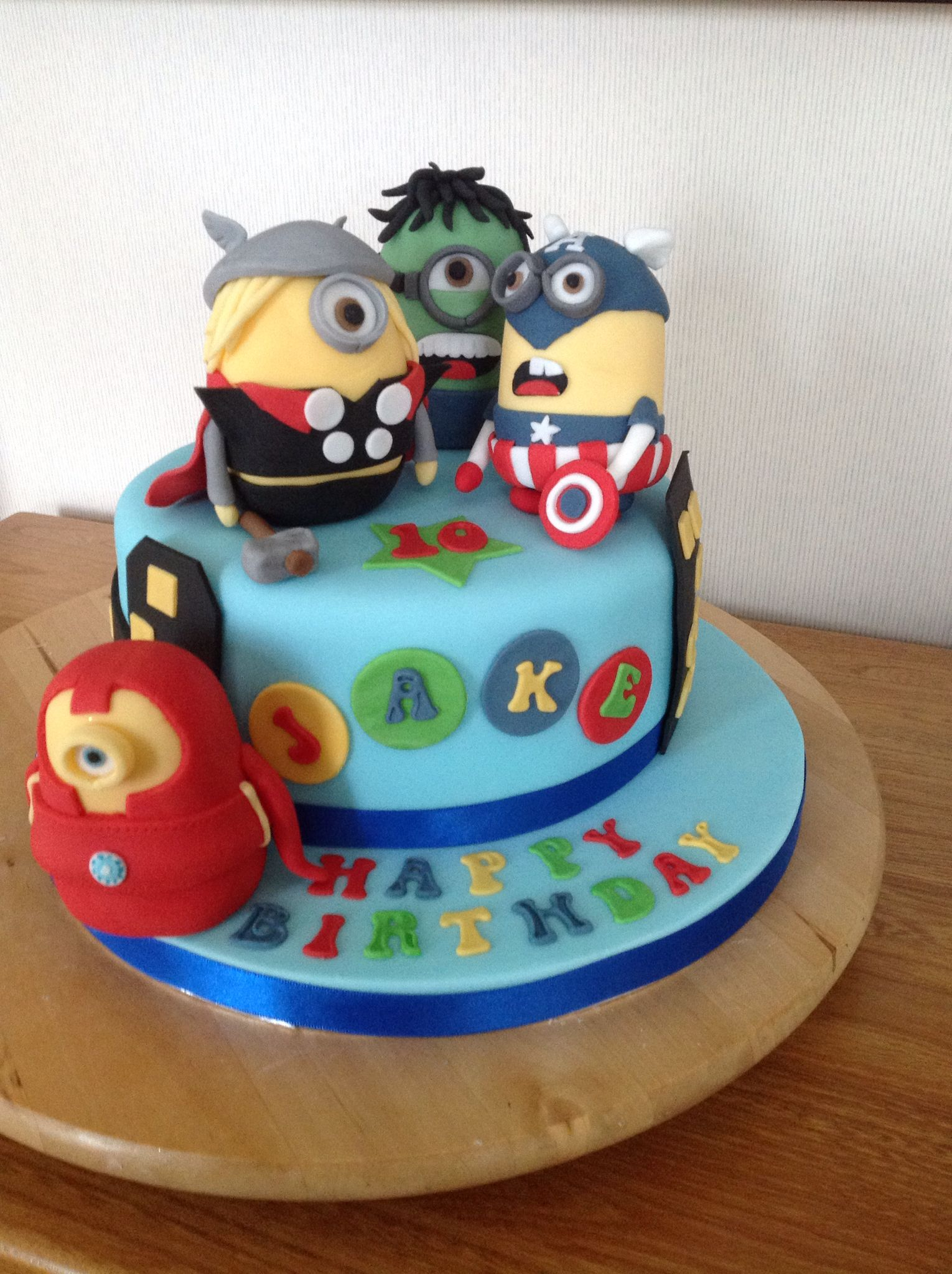 Avenger Minions Inspired by a design found on the Internet Cake