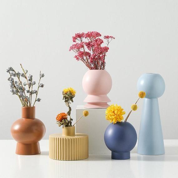 Exquisite Minimalist Handmade Ceramic Vase, Nordic Modern home decor, pottery