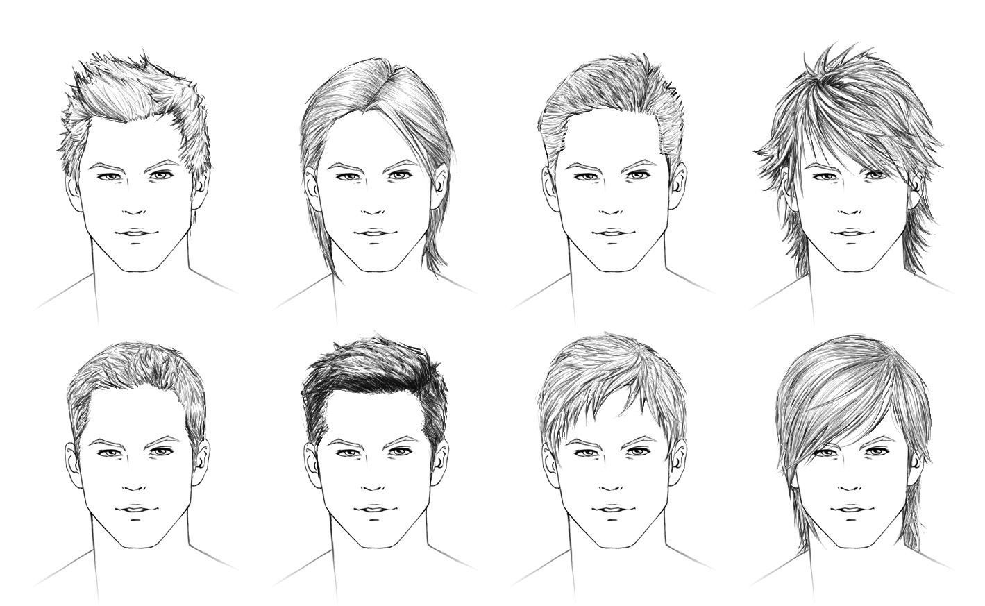 Zeichentechniken Hairstyles Drawing Male Drawing Hairstyles Human Face Drawings
