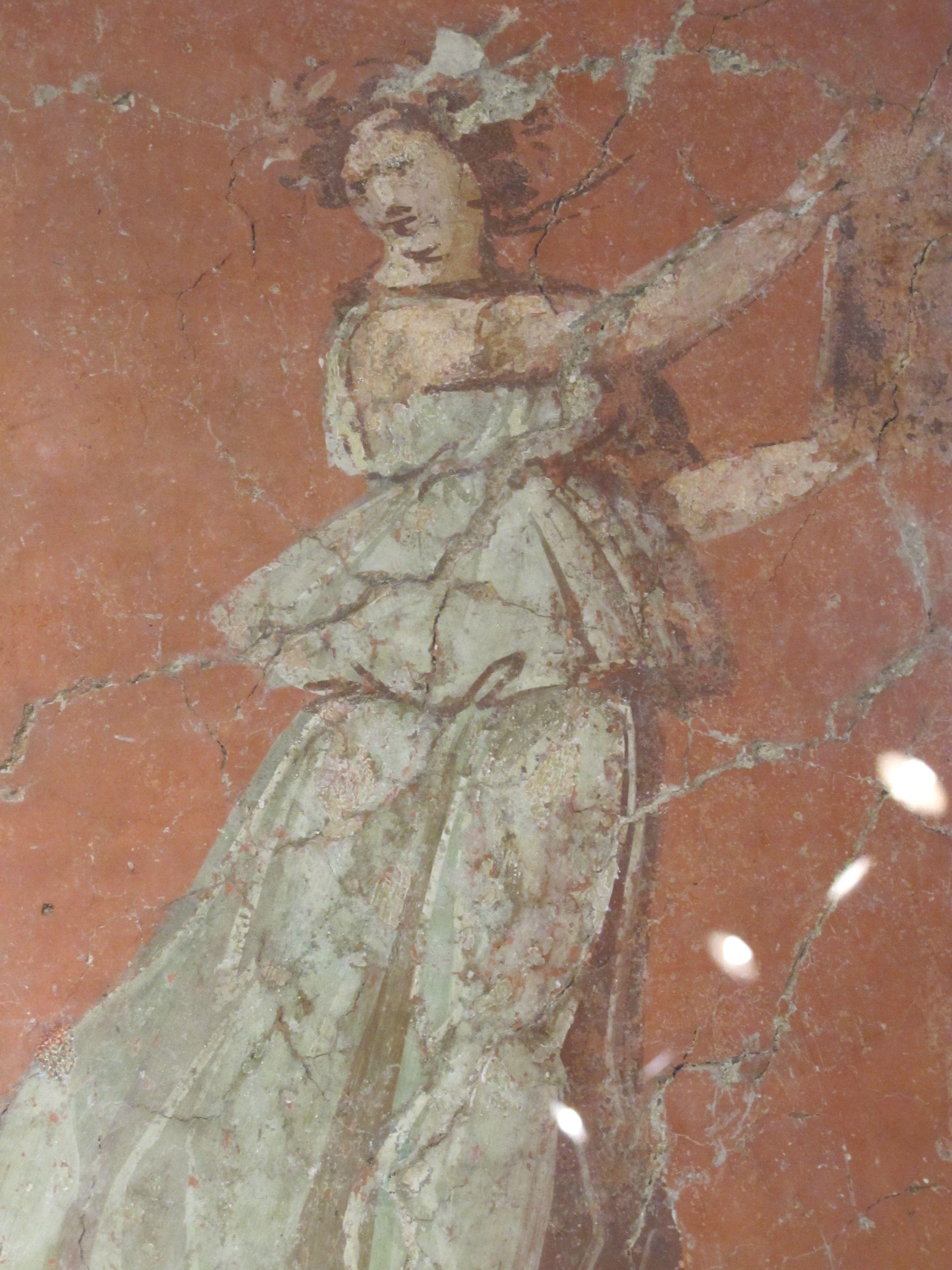 Ancient fresco fragment, Crypta Balbi.