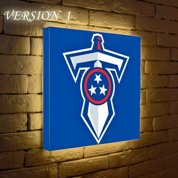 Tennessee Titans Wall Lamp Logo Lighted Sign Led Box Wall