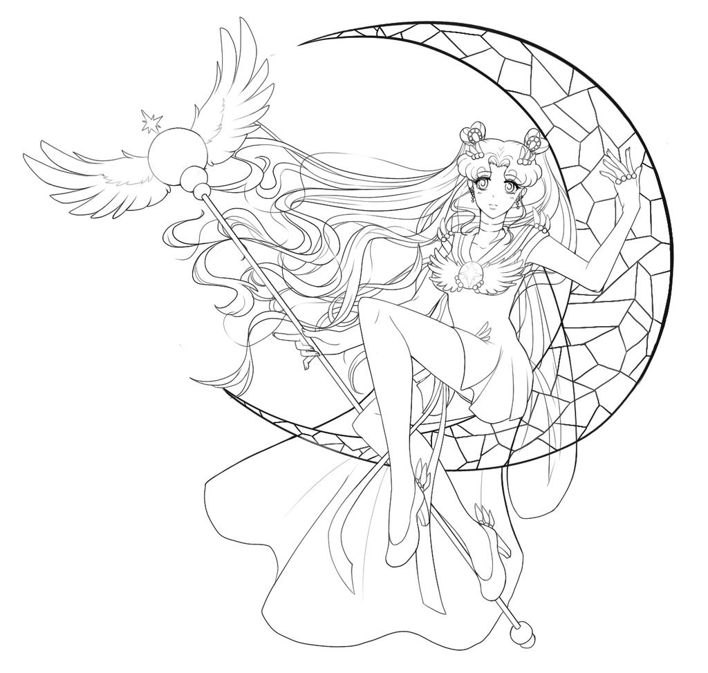 Sailor Cosmos Lineart by Hinderence.deviantart.com on @deviantART ...