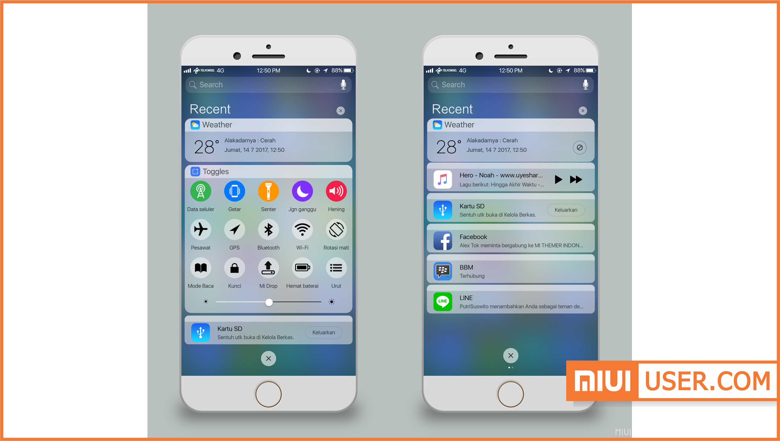 Tema IOS Alakadarnya V 11 Mtz Theme Download for MIUI 8