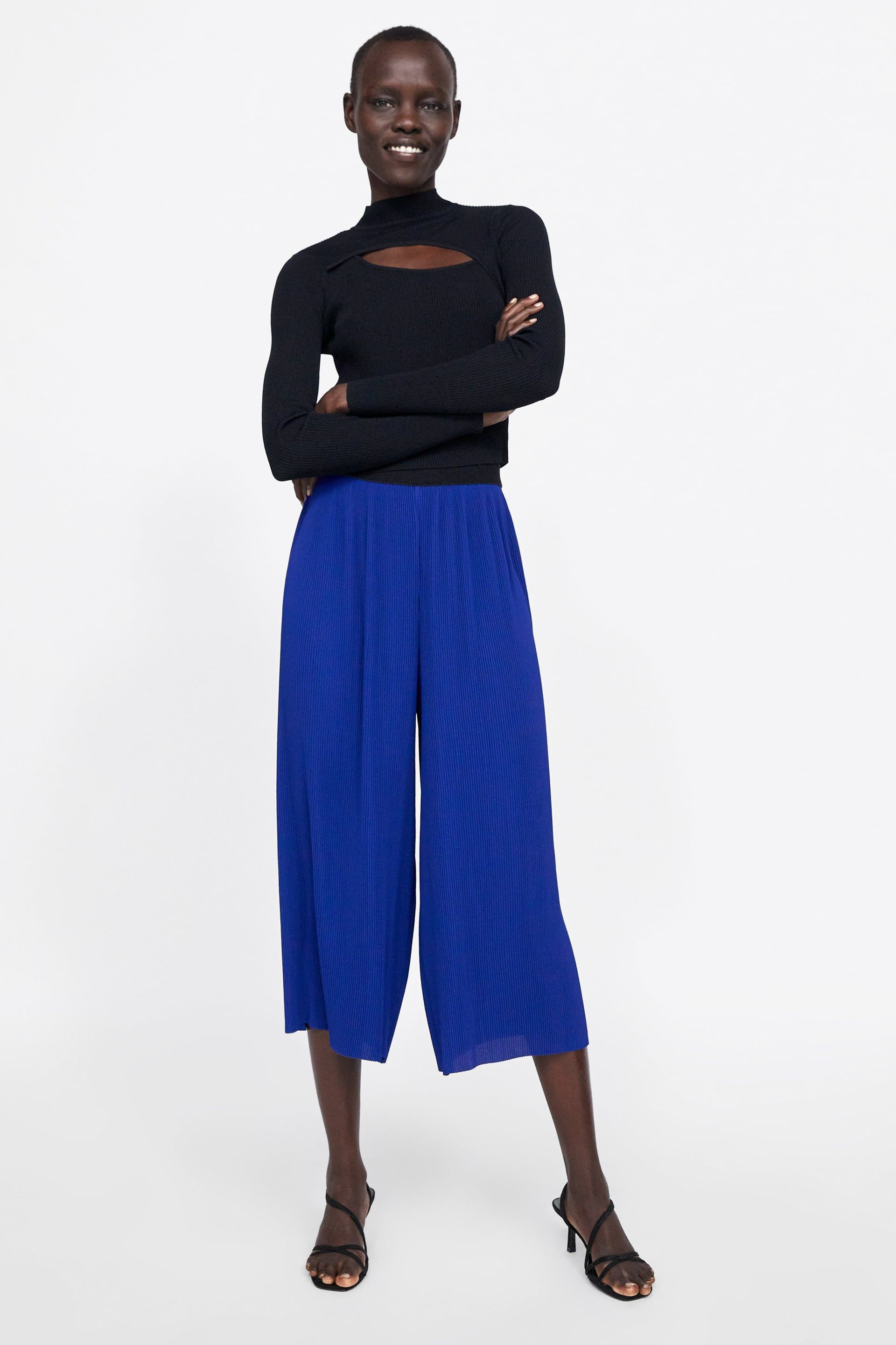 da08039a6b PLEATED PANTS - View all-PANTS-WOMAN | ZARA United States | [wear ...