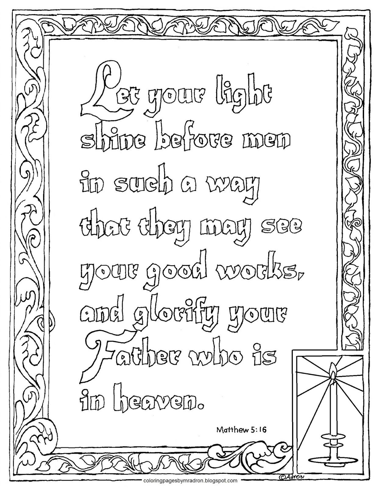 This printable coloring page is for children and adults too it is a favorite verse from the sermon on the mount it has inspired and cha