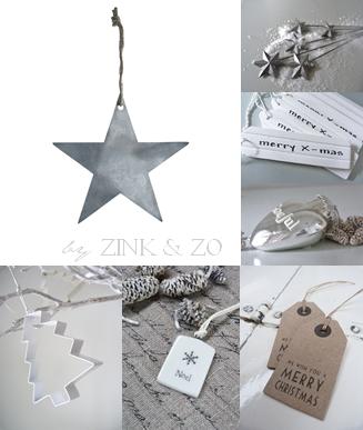 Christmas in white & grey | Xmas decoration . Weihnachtsdekoration . décoration noël | @ studio dees |