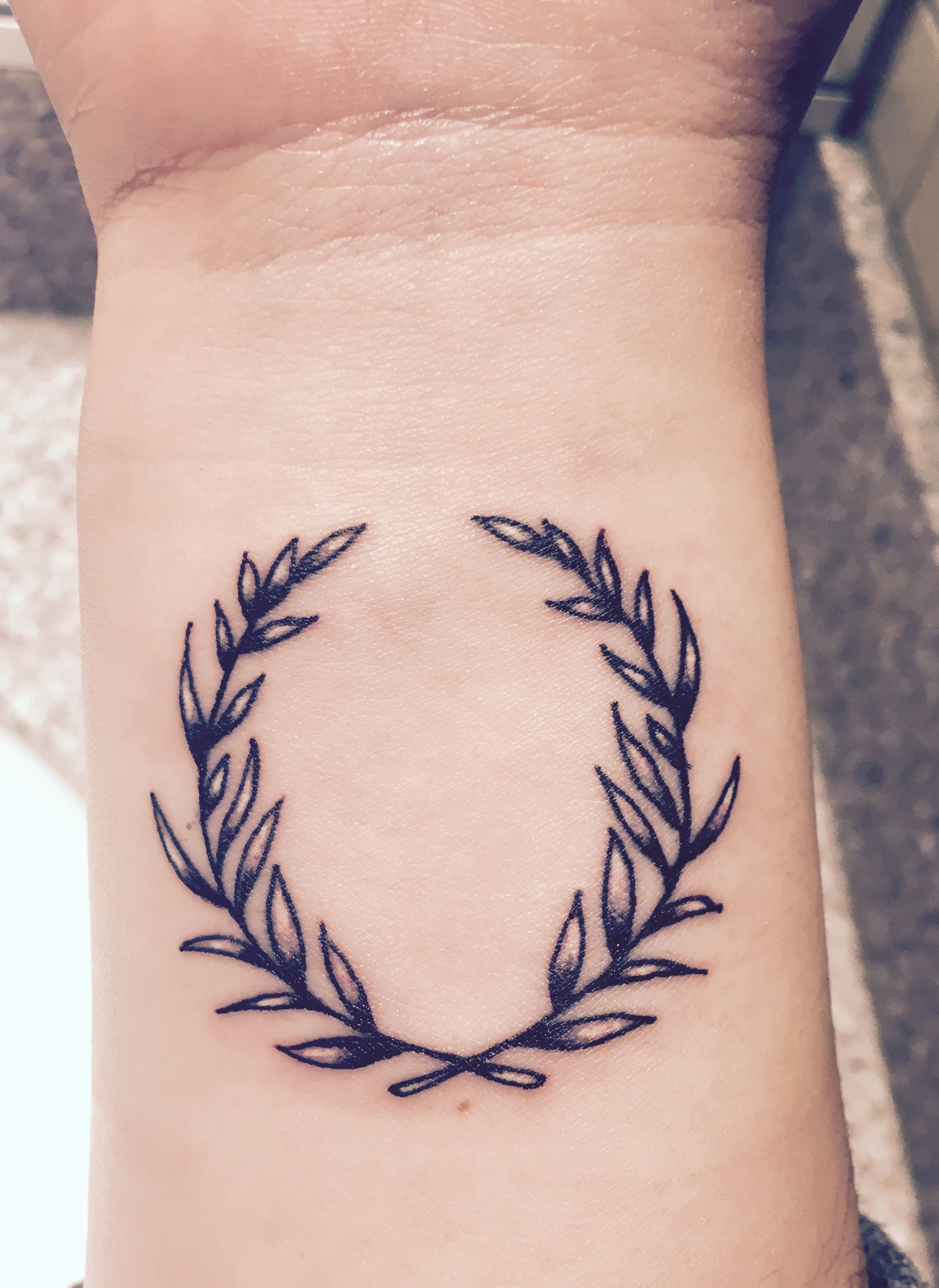 Olive Wreath Inner Wrist Tattoo Meanings Peace Growth Victory