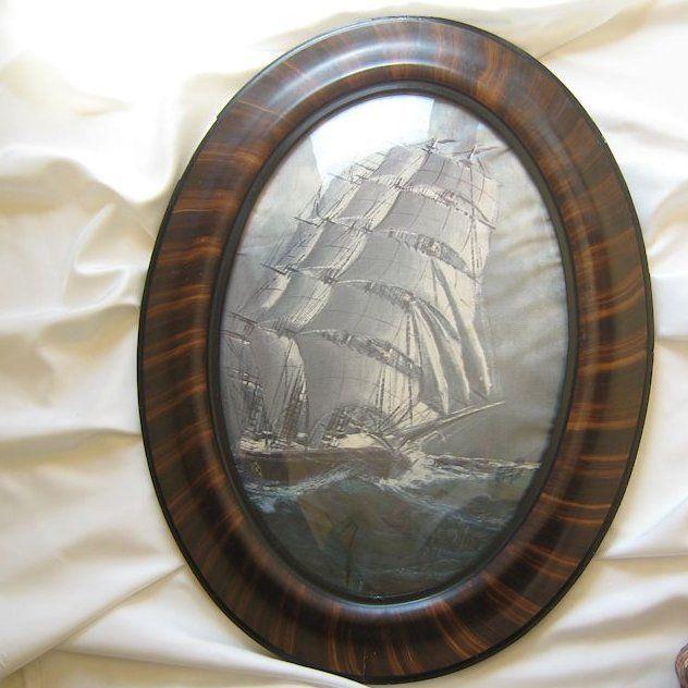 Antique Tiger Stripe Frame * Curved Glass