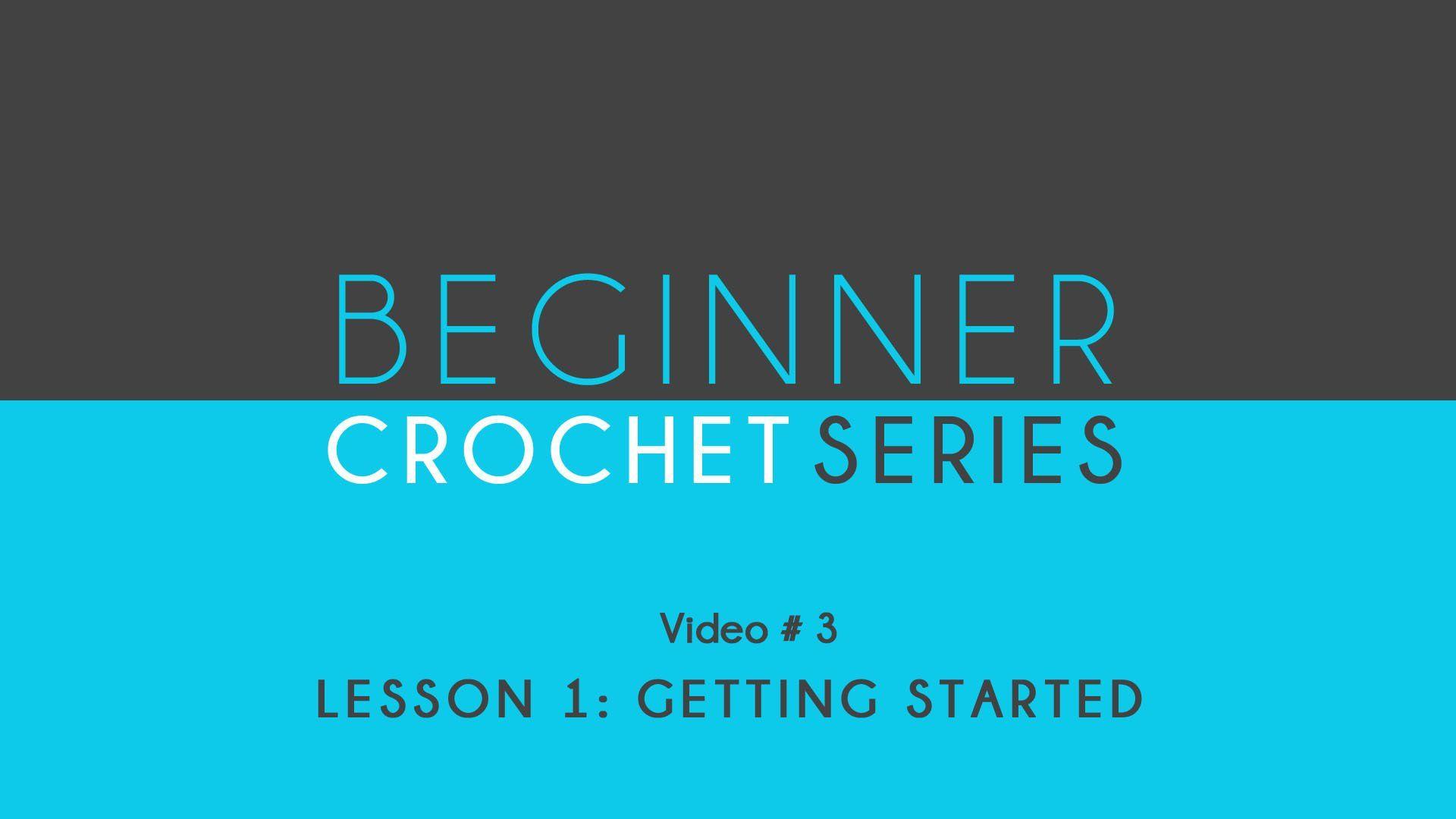 How to Crochet Left Handed: Beginner Crochet Lesson 1 Getting Started