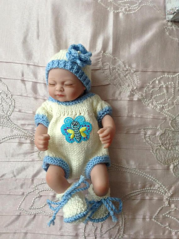 Hand Knitted Dolls Clothes To Fit A 10 Dollreborn Dziecko
