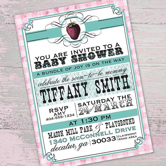 Baby Picnic Themed Shower Invitation By Paperfinchdesign