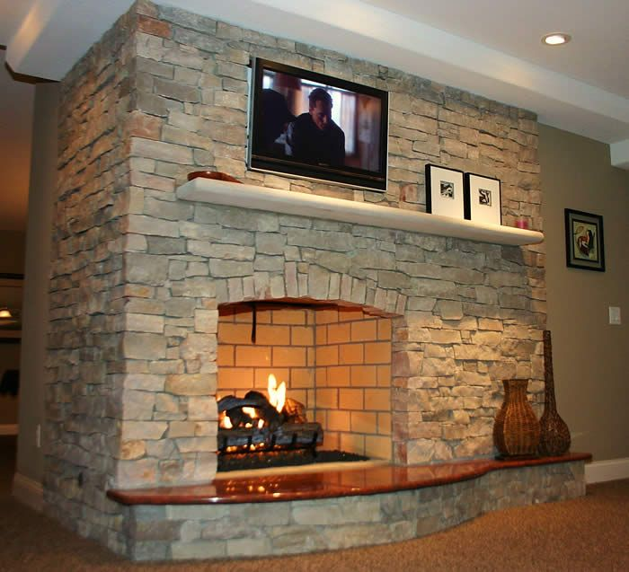 Gallery For Wood Burning Stone Fireplace Fireplaces Pinterest Stone Fireplaces Wood