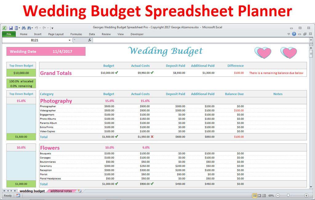 Wedding Planning Template Excel Lovely Wedding Bud Spreadsheet Excel Wedding Planner Pro Wedding Budget Spreadsheet Wedding Budget Template Budget Spreadsheet