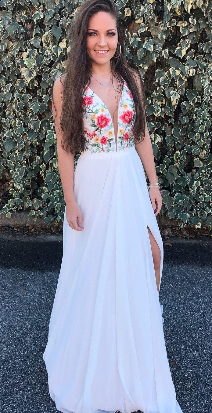 Discount admirable chiffon prom dresses white chiffon long floral