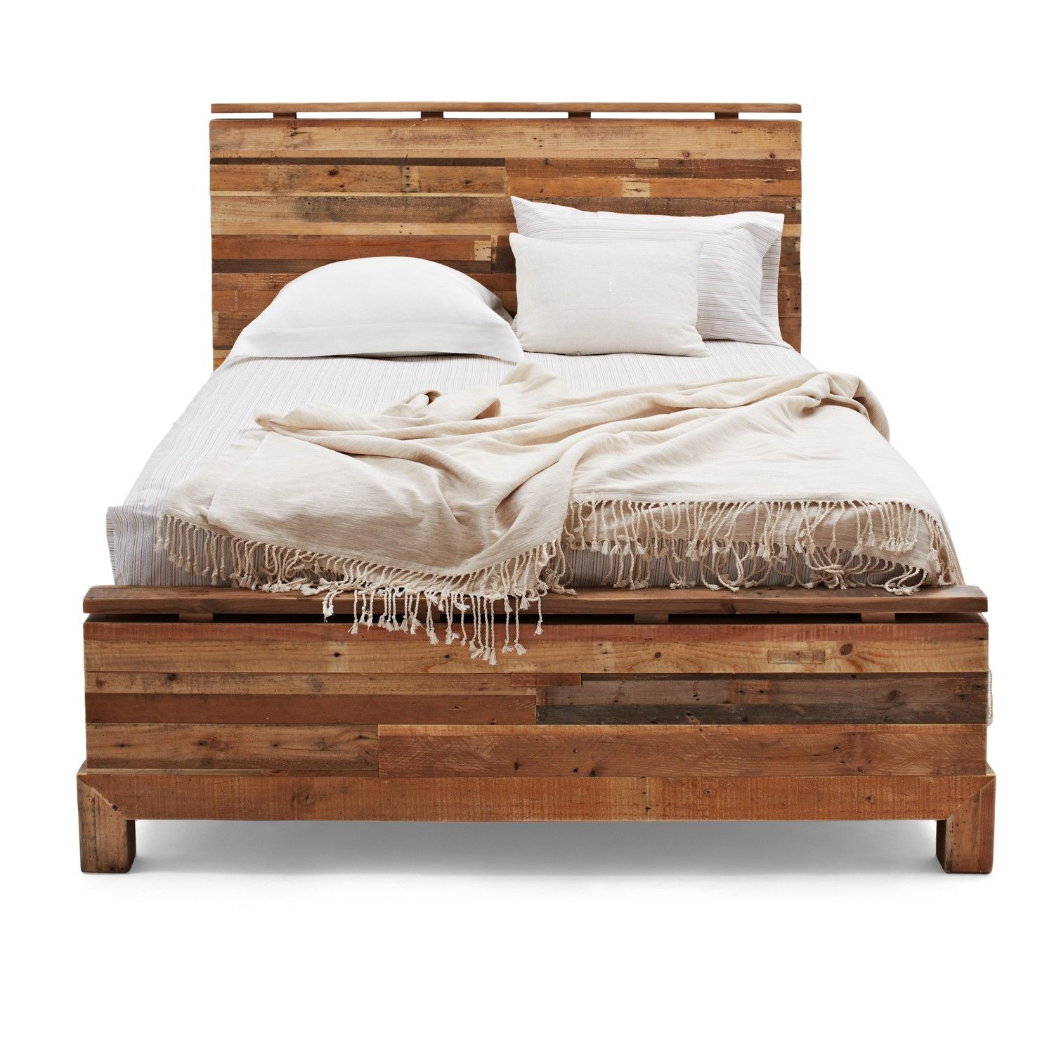 Wooden bed furniture design - Reclaimed Wood Bedroom