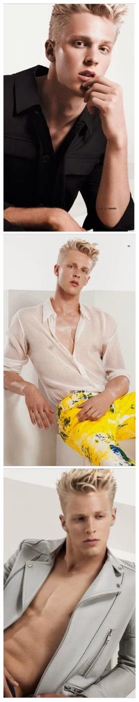 Clark Bockelman is the Golden Boy for Elle Man Vietnam