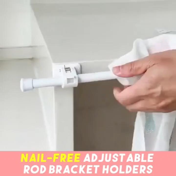 Self Adhesive Hooks Rod Bracket 2pcs Video Video In 2020