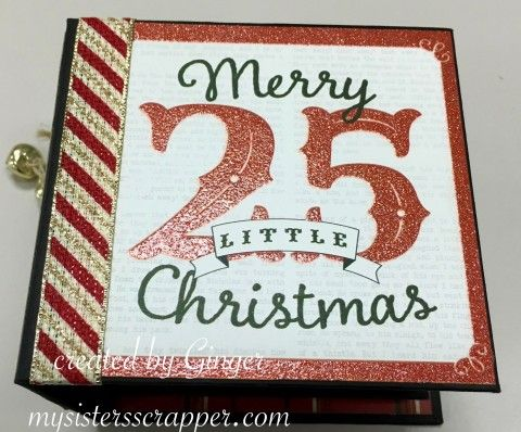 Hello everyone! I have had several requests to do a tutorial on the Christmas Countdown Mini Album that I had created using the My Minds Eye paper collection. I had taught this class at my local sc…