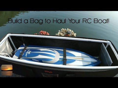 DIY RC Boat Bag for V-Hulls and Catamarans - Easy to Build