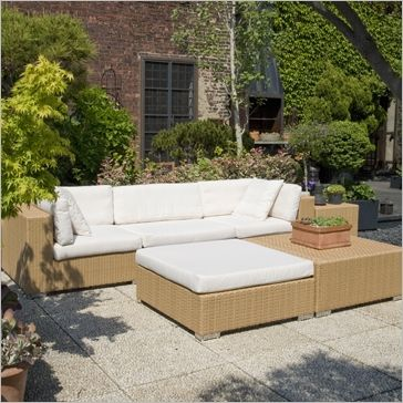 Java Collection -- all-weather outdoor rattan in honey color with ...
