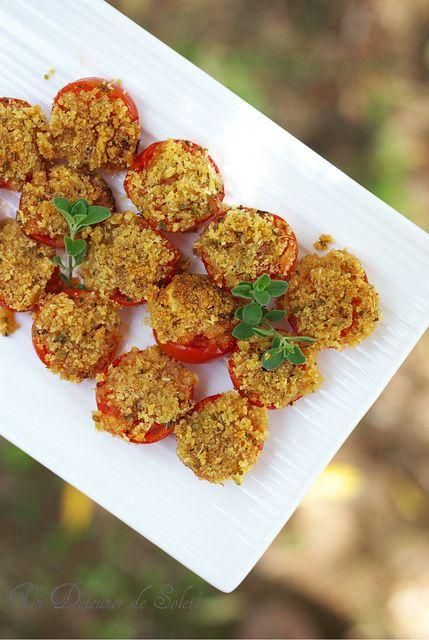Tomates gratinées au pecorino et origan - Pomodori arreganati o arrecanati