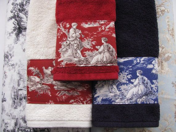 Toile D Jouy Towels Hand Towels Bath Towels Custom By Augustave