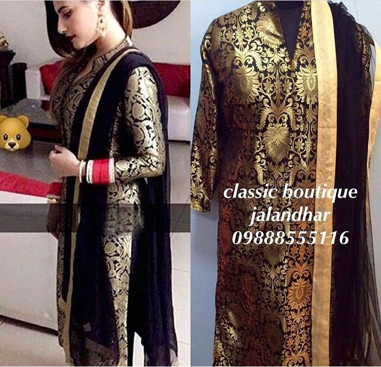 Love The Elegance Of Brocade Suit By Classic Boutique Jalandhar