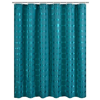 Water Flower Print Waterproof Shower Curtain Shower Curtain