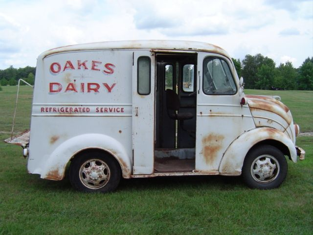 1948 Milk Truck Original Trucks Vintage Trucks Panel Truck