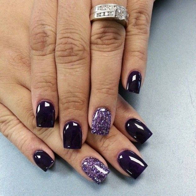 Fall Nail Trend Dark Purple Nail Designs Fashionsy Com Purple Nails Dark Purple Nails Nails