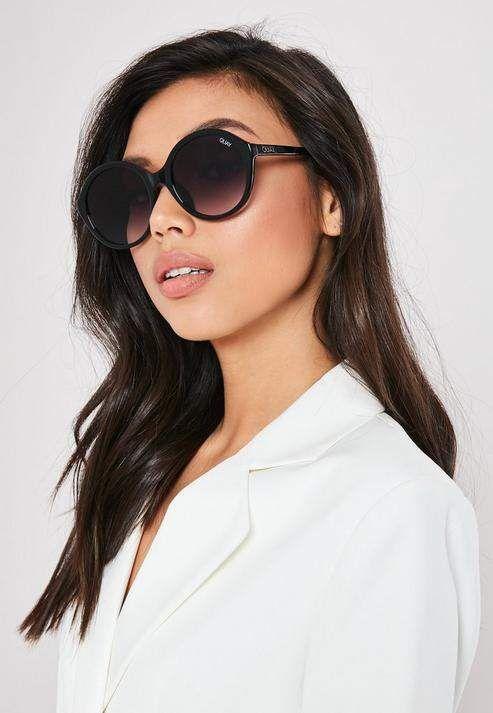 4a50d8ca31617 Missguided Quay Australia X Benefit Black Tinted Love Sunglasses in ...