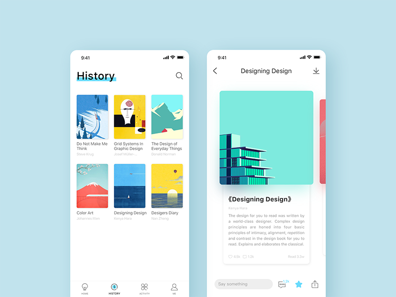 Piece read app mobile ui design elements aries mockup also pinterest and rh