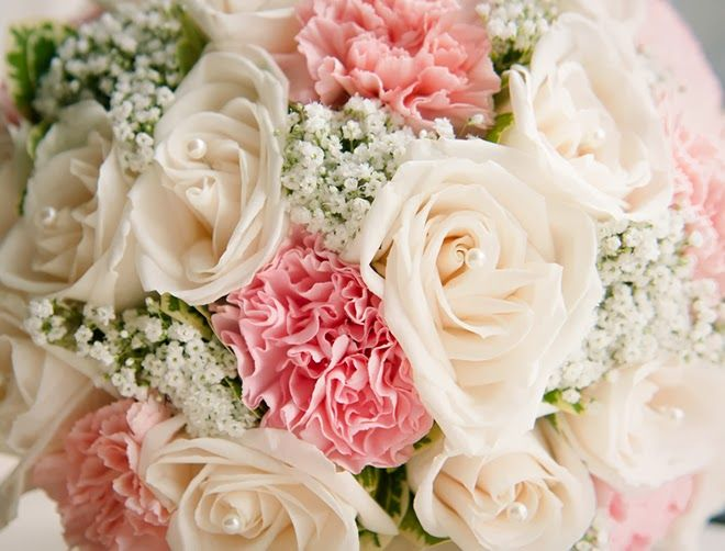carnations wedding bouquet a spectacular blush wedding affair in nyc wedding 2462