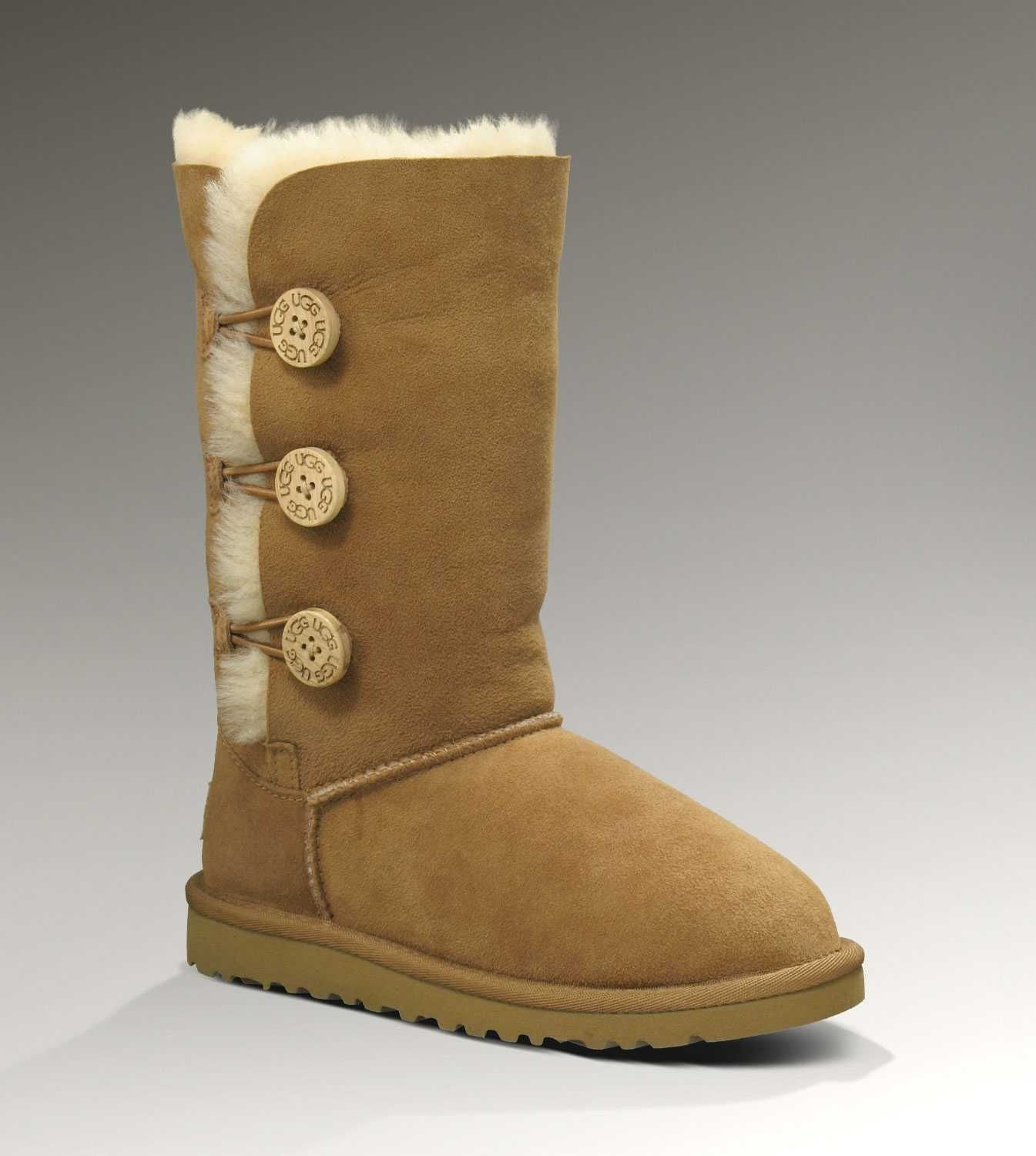 Cheap Uggs Bailey Button Triplet 1962 Boots For Kids [UGG UK 060] - $95.00