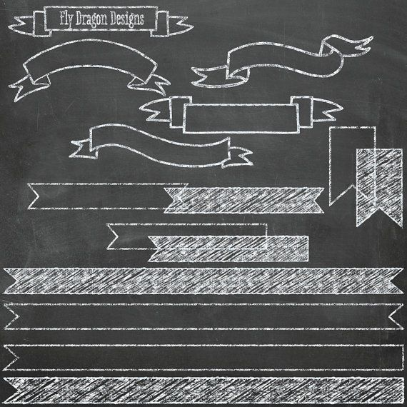 Chalk Clip Art Banners and FREE Chalkboard Backgrounds - Overlays ...