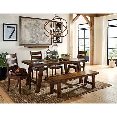 Introducing The Tuscany II Dining Collection This Smaller Scale Version Of Our Popular Group Is Finished In A Vintage Mahogany