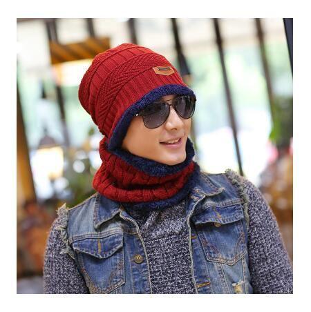114452fbad4d6 2017 New Knitted Winter Hat Scarf Beanies Knit Men s Winter Hats Caps  Skullies Bonnet For Men Women Beanie Casual Neck Warmer