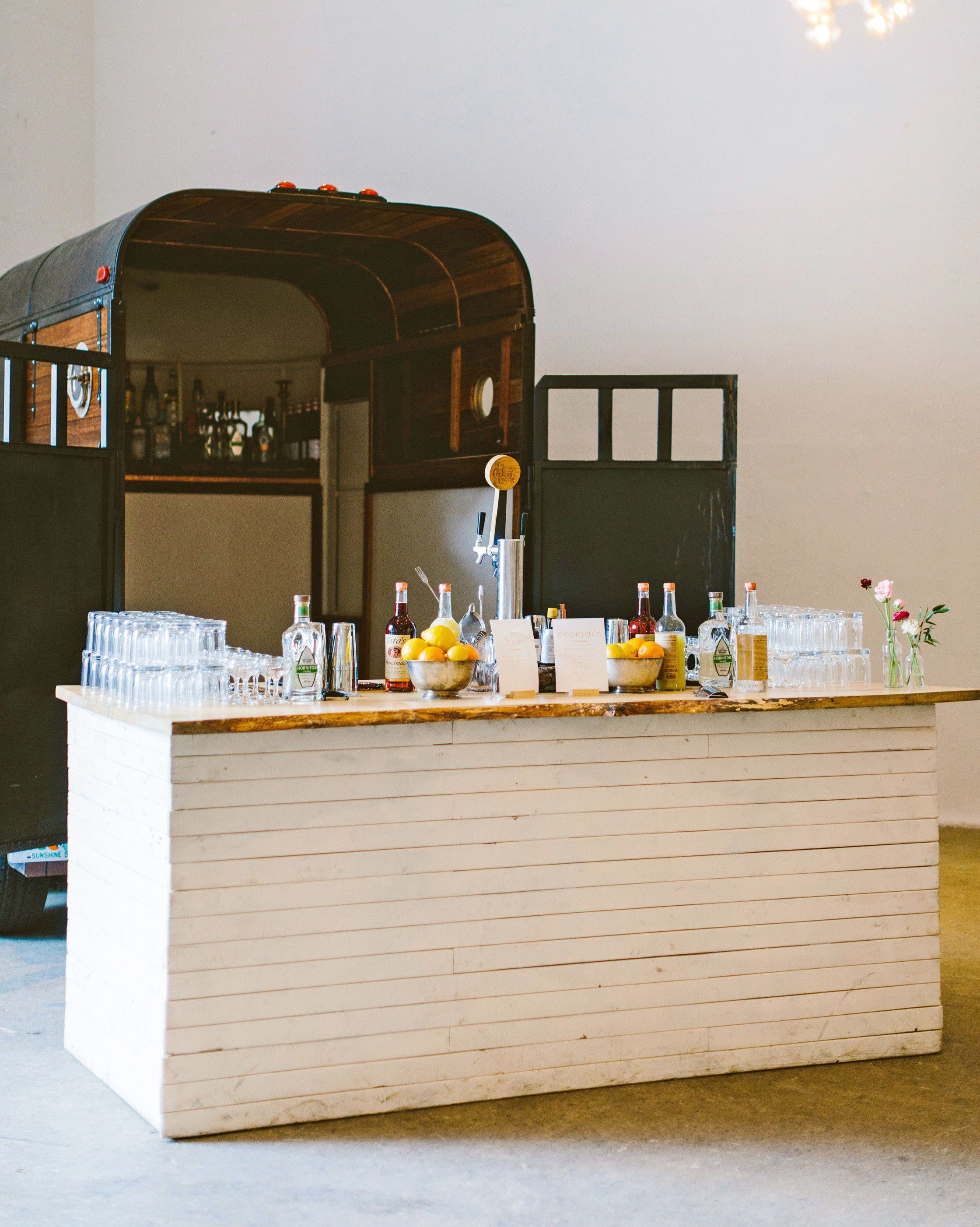 Mobile Bars And Food Trucks That Can Roll Right Up To Your Party Mobile Bar Food Truck Wedding Reception Food