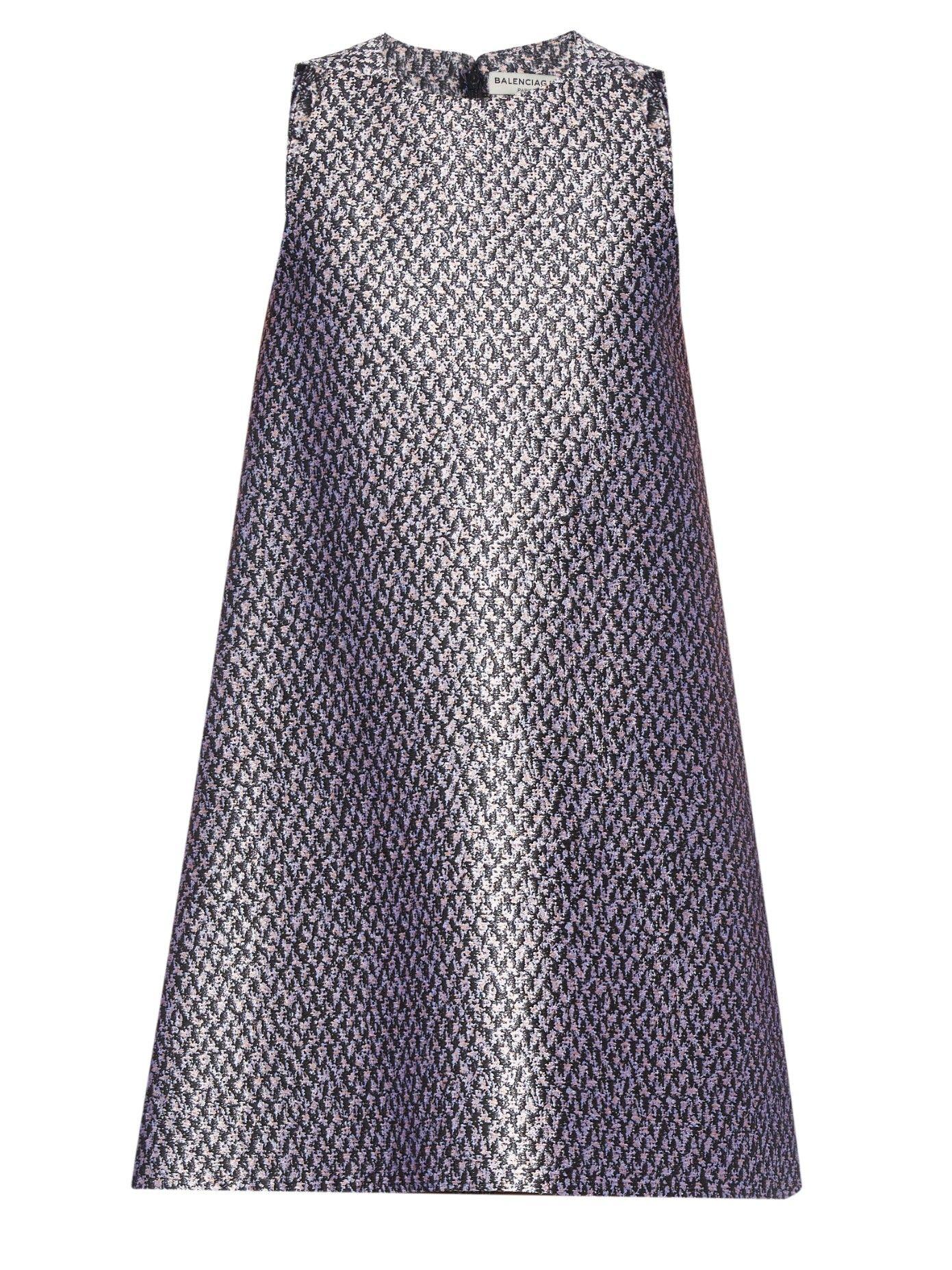 Tweed-jacquard sleeveless dress   Balenciaga   MATCHESFASHION.COM US
