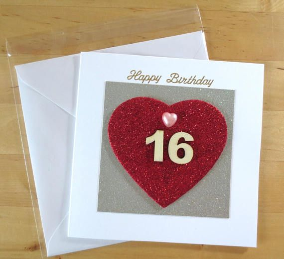 16th 18th 21st Birthday Card Daughter 16th 18th 21st Card 16