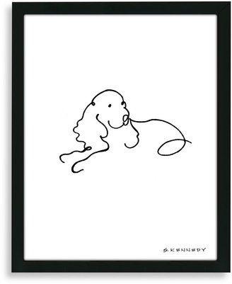 Bed Bath & Beyond Spaniel Framed Line Drawing | cocker