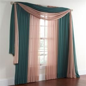 BrylaneHome® Studio Sheer Voile Scarf Valance And Rod Pocket Panels |  Curtains U0026 Drapes
