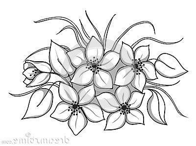 flower clip art black and white outline - Google Search ...