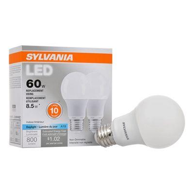 Sylvania Led 8.5-Watt 5000 Kelvins A19 Medium Base (E-26) Daylight ...