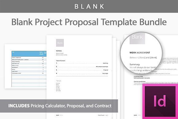 Blank Project Proposal Templates Presentations Pinterest