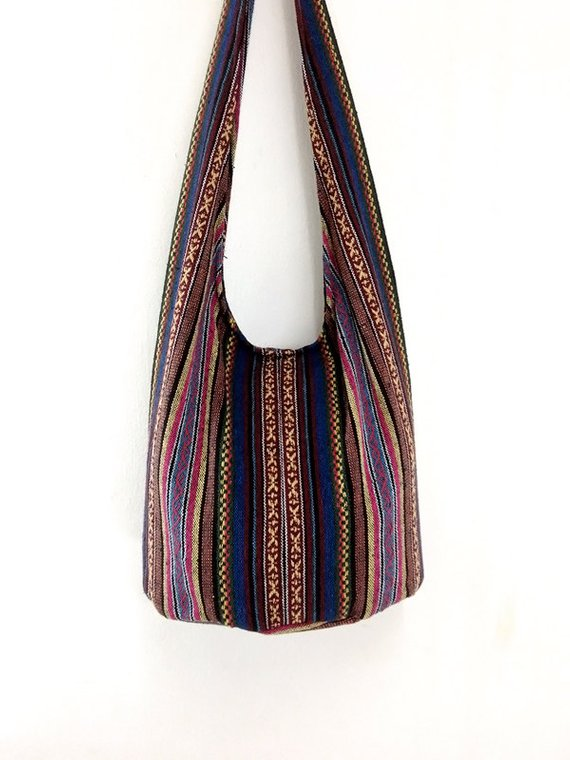 f56b57cf4d Woven Cotton Bag Hippie bag Hobo Boho bag Shoulder bag Sling bag Messenger  bag Tote Crossbody Purse